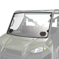 Hard Coat Poly Full Vented Windshield with Lock & Ride® Technology, Clear