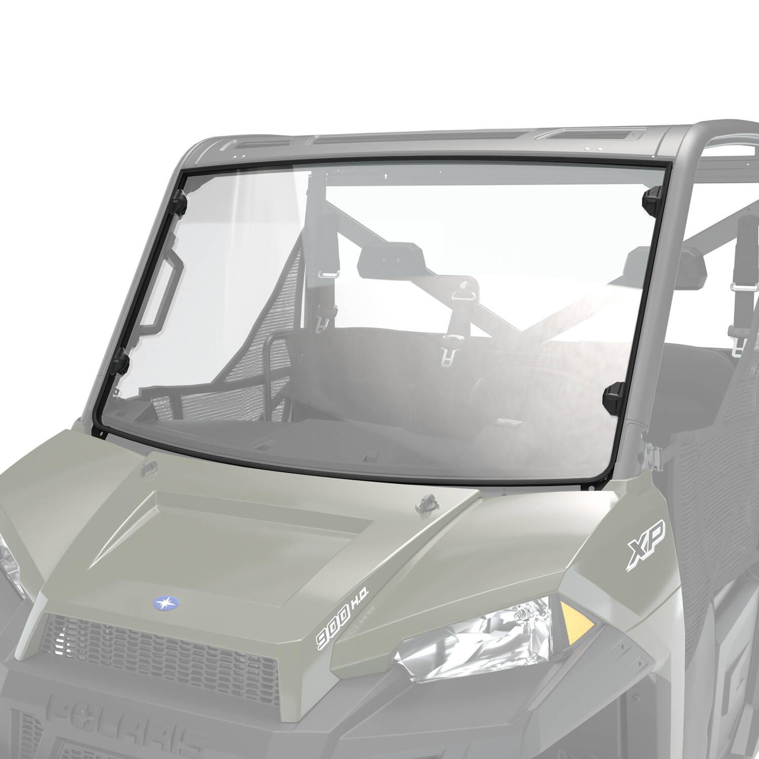 Hard Coat Poly Full Windshield, Clear