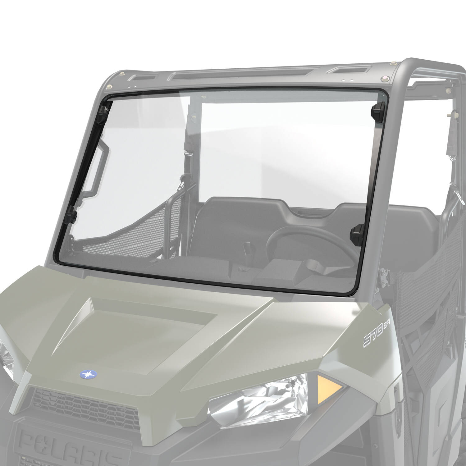 Poly Full Windshield with Lock and Ride Technology