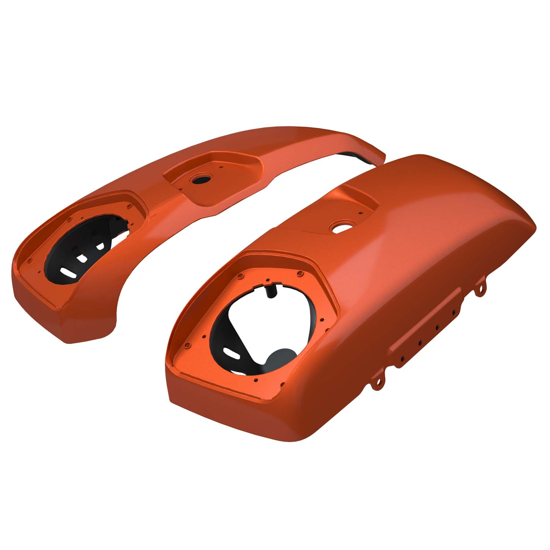 PowerBand™ Audio Saddlebag Speaker Lids - Burnt Orange