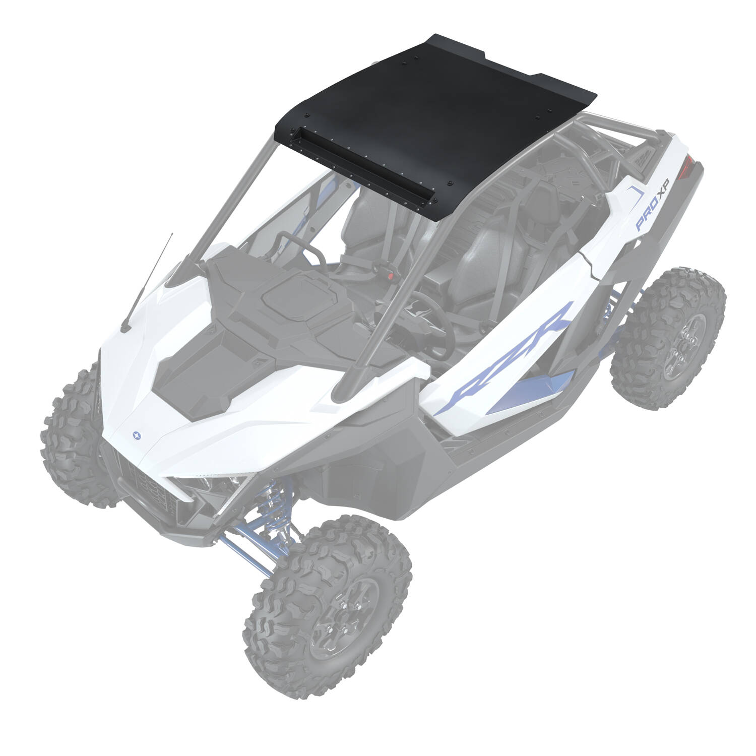 2-Seat Aluminum Roof with Integrated Light Bar Pocket