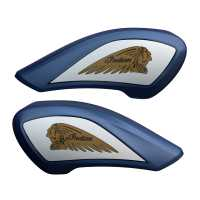 Tank Covers - Matte Blue Fire