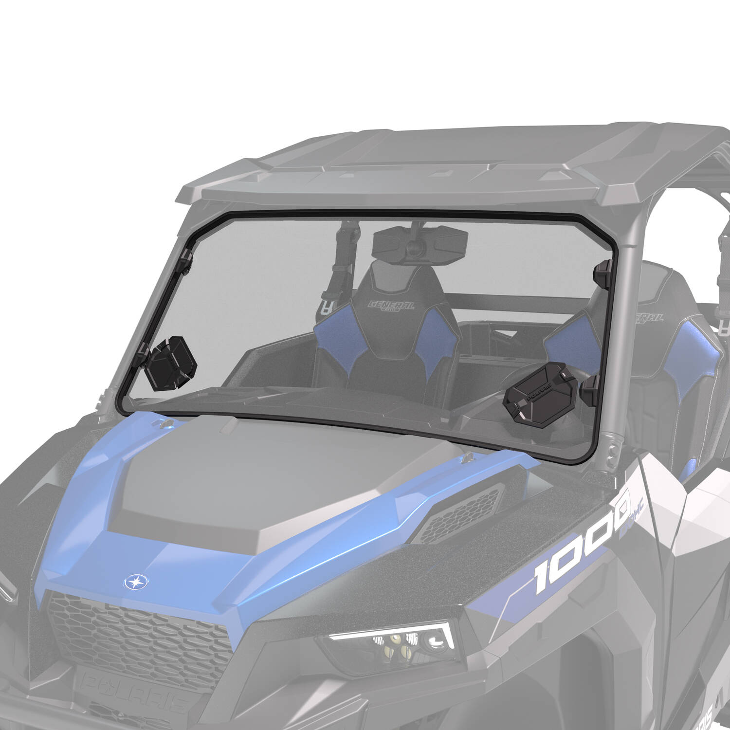 Lock & Ride® Full Vented Windshield - Hard Coat Poly