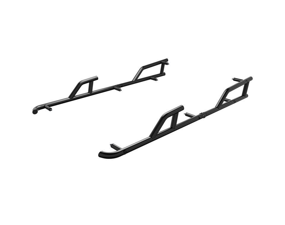 4-Seat Extreme Kick-Out Steel Rock Sliders- Black
