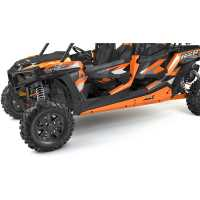 4-Seat Low Profile Rock Sliders- Spectra Orange