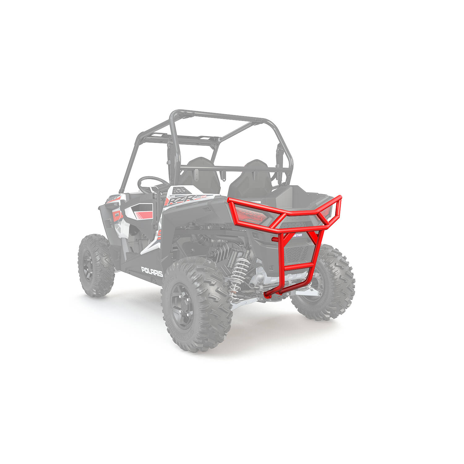 Rear Deluxe Bumper Indy Red