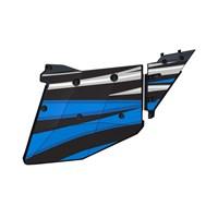 4 Seat Aluminum Door Graphics, Velocity Blue