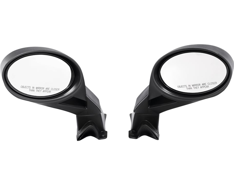 PRO-RIDE Hood Mount Snowmobile Mirrors - Black