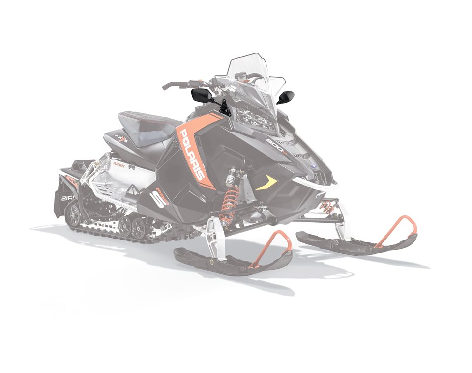 Snowmobile Side Mirrors : Axys snowmobile mirrors black polaris snowmobiles