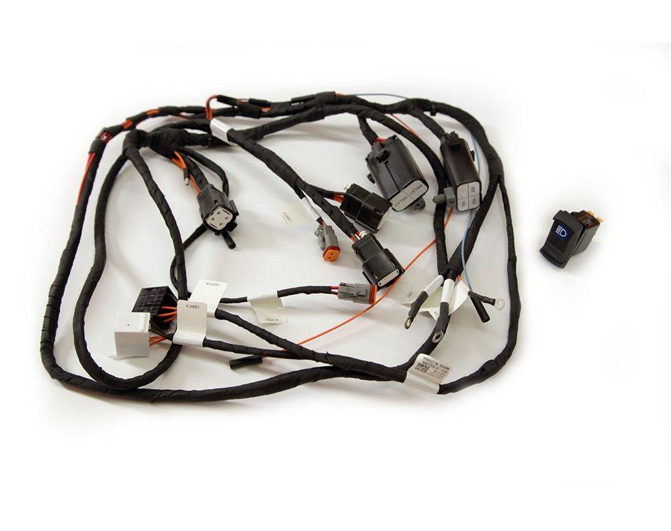 12 volt headlight harness 2wire