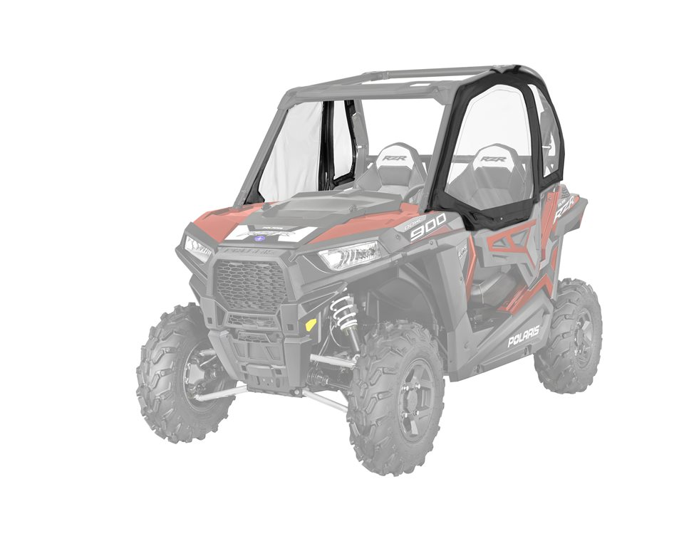Canvas Upper Door Black Polaris Rzr
