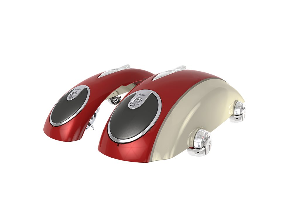 Concert Audio Lids - Indian Motorcycle® Red over Ivory Cream