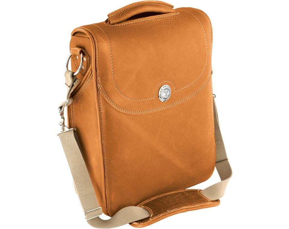 Genuine Leather Messenger Bag - Desert Tan | Indian Motorcycle