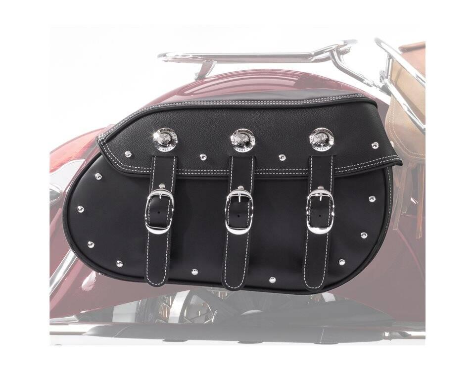 Genuine Leather Quick Release Saddlebags - Black