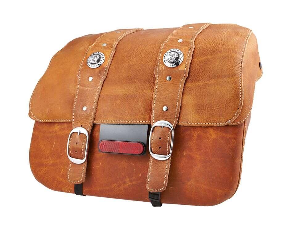 Genuine Leather Saddlebags Desert Tan