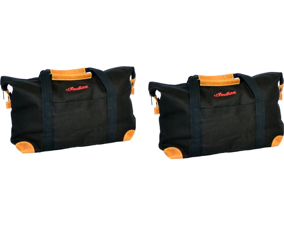 Deluxe Saddlebag Travel Bags in Black, Pair