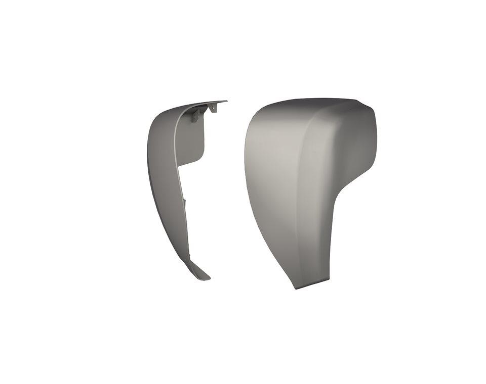 Hard Lower Fairings - Silver Smoke