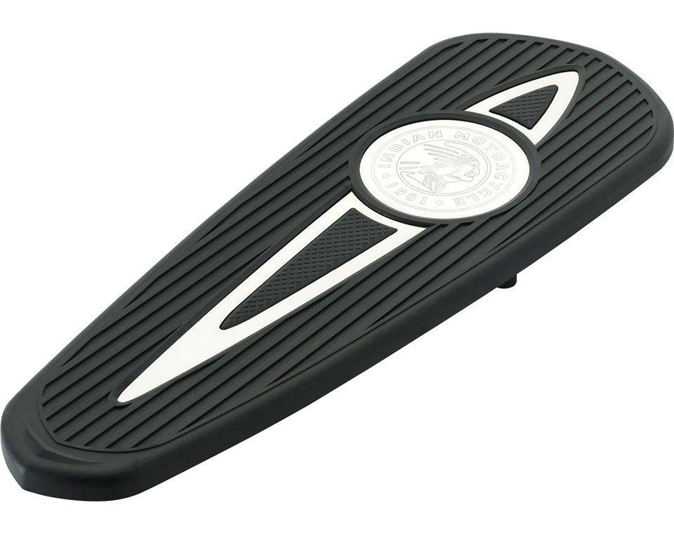 Headdress Rider Floorboard Pads - Polished Inlays