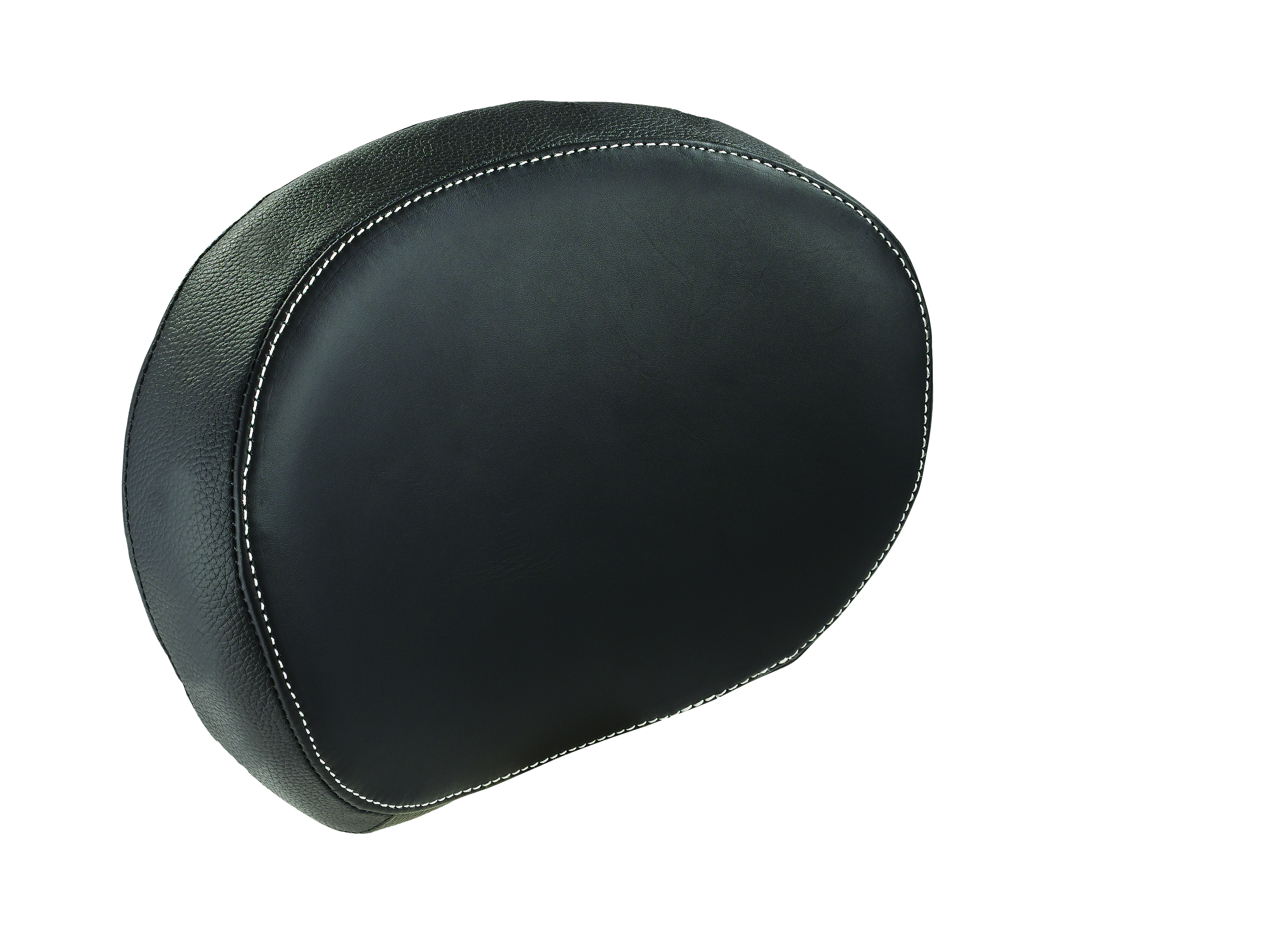 Genuine Leather Passenger Backrest Pad - Black