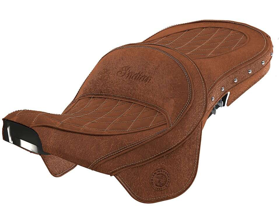 Genuine Leather Touring Heated Seat - Desert Tan