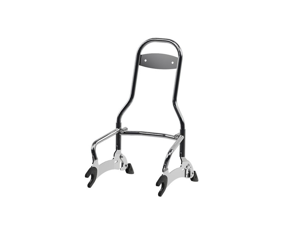 14 Quot Quick Release Passenger Sissy Bar Chrome Indian