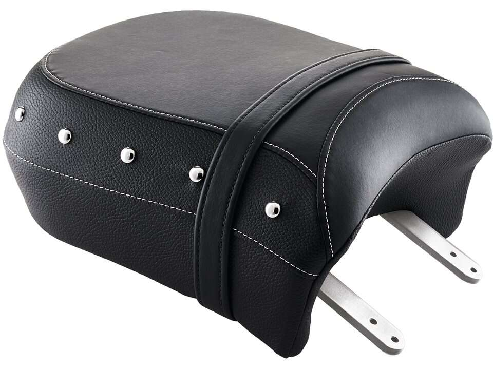 Genuine Leather Heated Passenger Seat, Black with Studs
