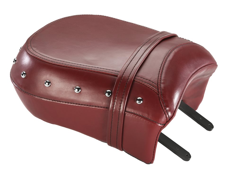 Genuine Leather Passenger Seat - Red w/ Studs