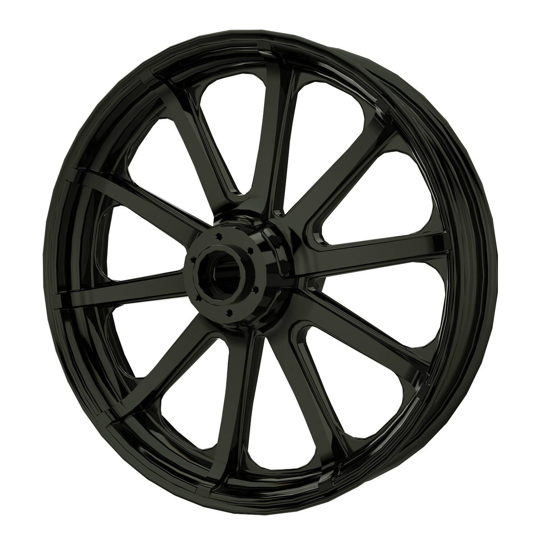 "19"" 10-Spoke Front Wheel Kit - Black"