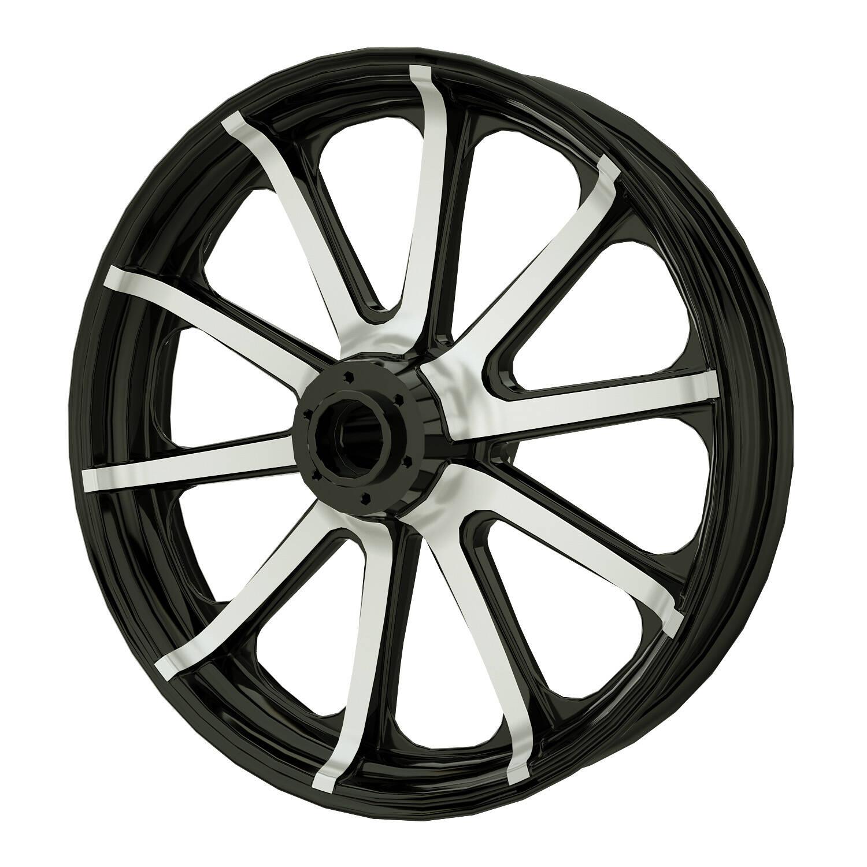 """19"""" 10-Spoke Front Wheel Kit - Contrast Cut"""
