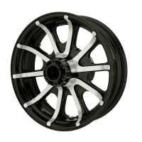 """16"""" 10-Spoke Rear Wheel - Trans Black"""