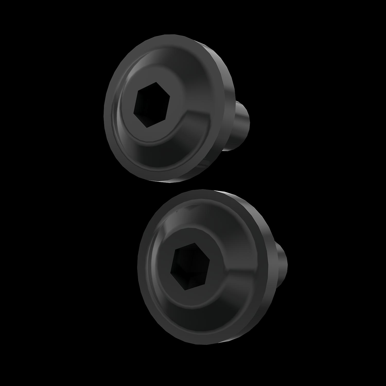Headlight Bezel Bolt Kit, Black