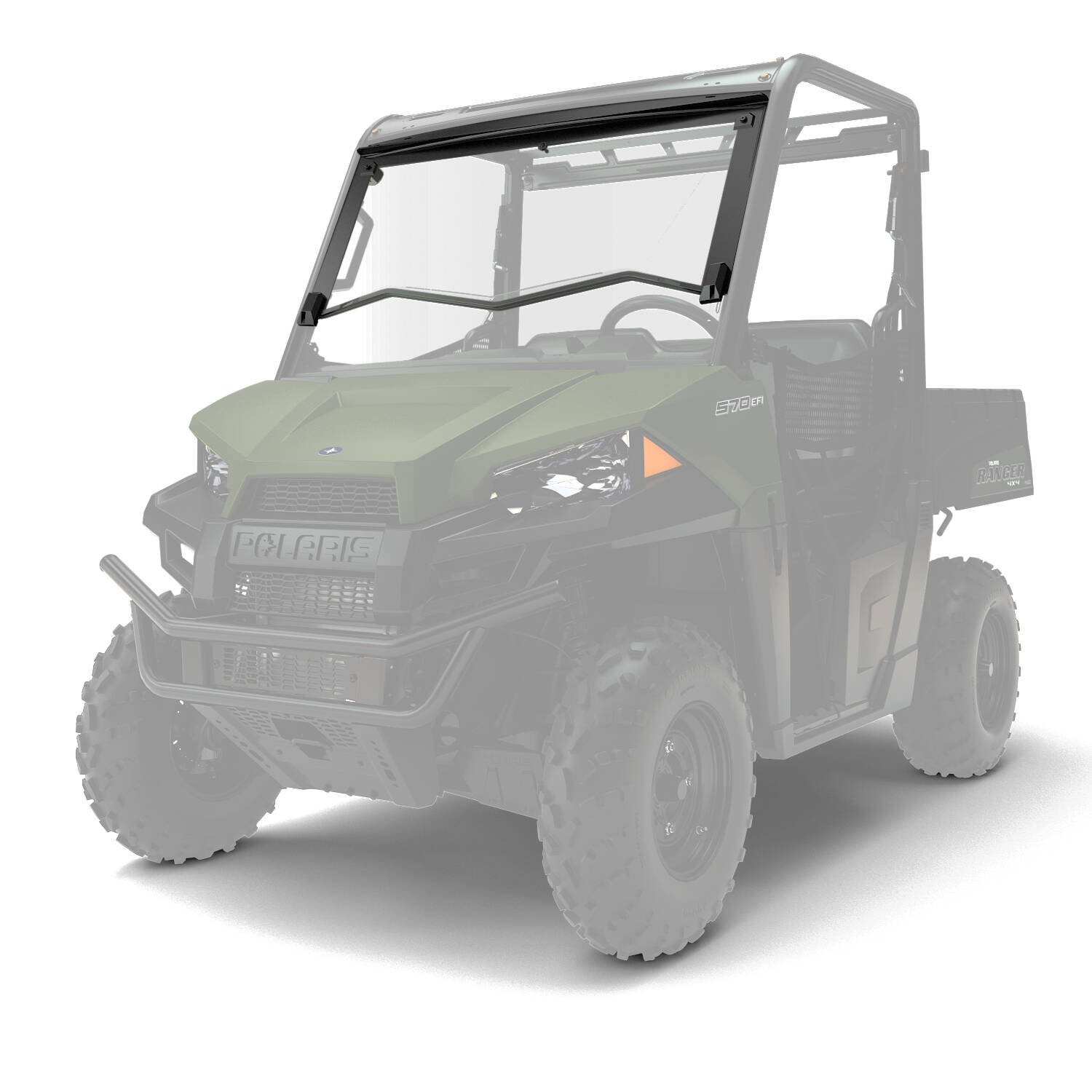 Polaris Ranger 570 Price >> Flip-Down Windshield - Hard Coat Poly | Polaris RANGER