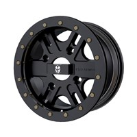 Pro Armor® Combat Wheel, Matte Black Front/Rear R14