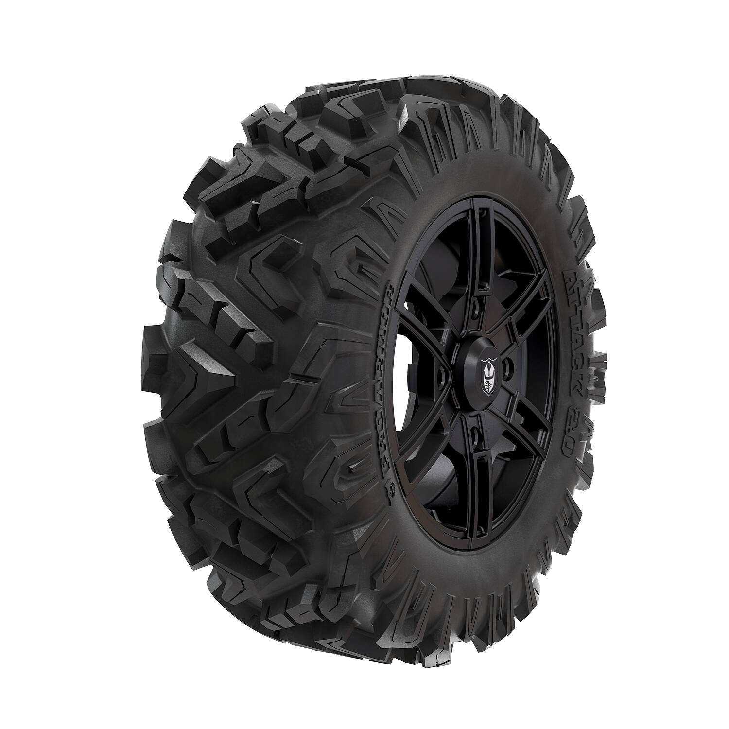 Pro Armor® Wheel & Tire Set: Wyde - Matte Black & Attack 2.0 - 28""