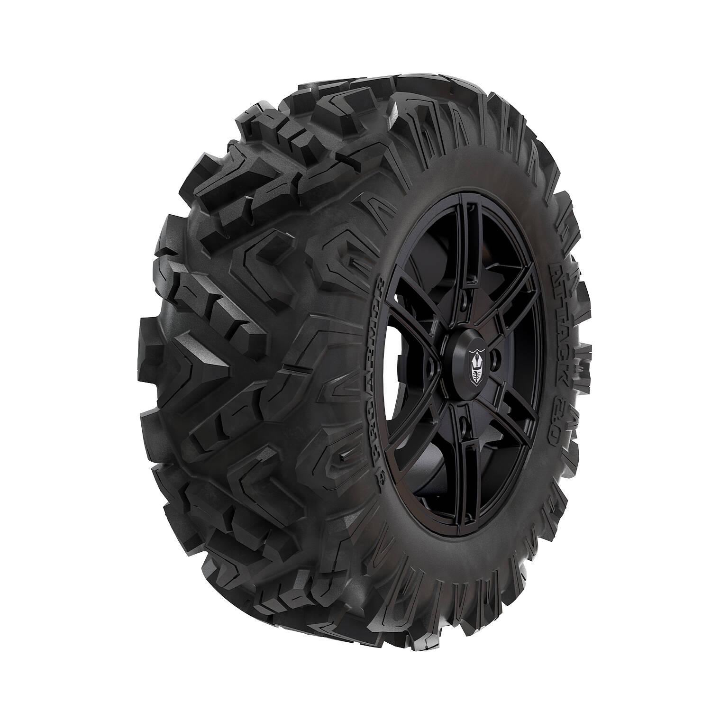 Pro Armor® Wheel & Tire Set: Wyde & Attack 2.0, Matte Black, 28R15