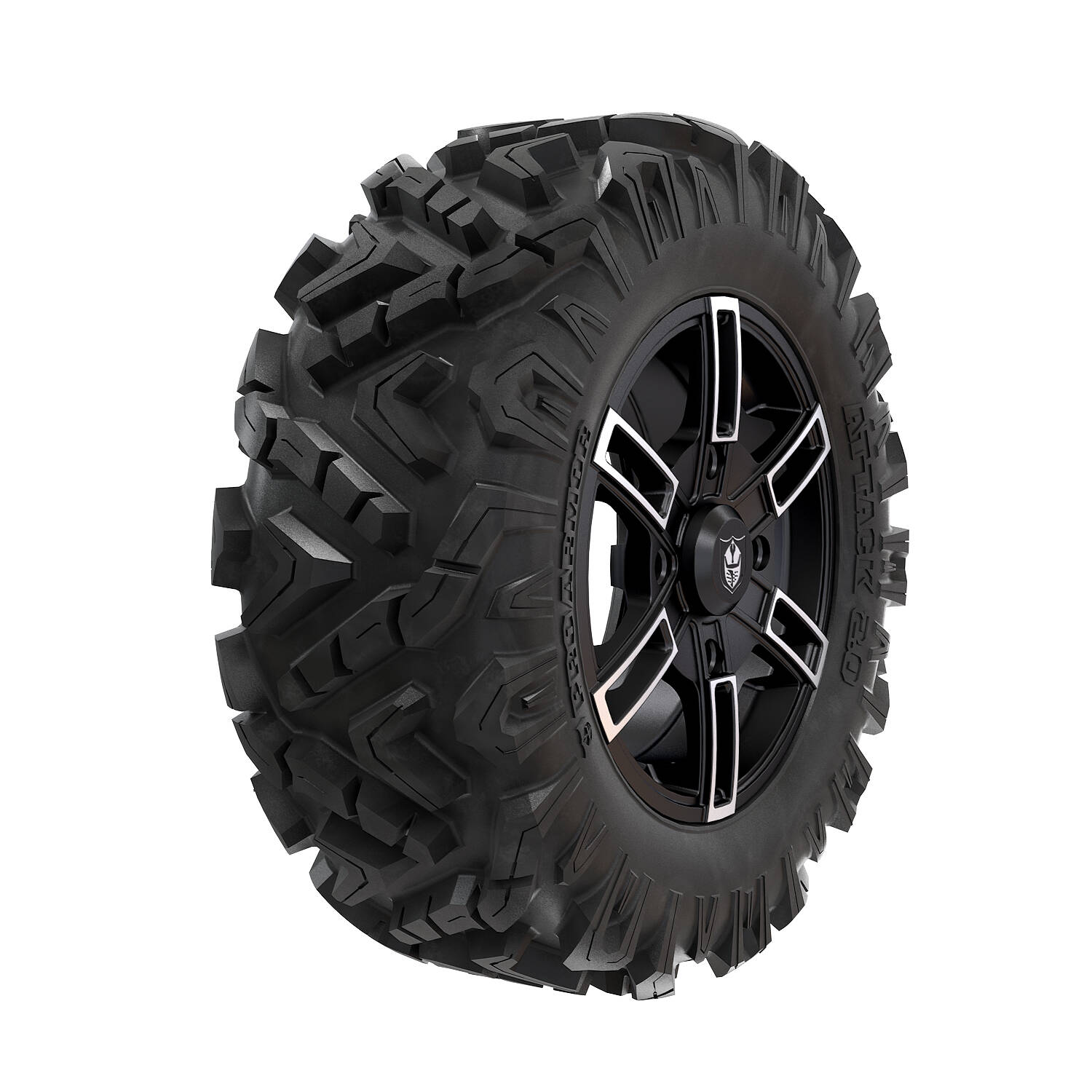 Pro Armor® Wheel & Tire Set: Wyde & Attack 2.0, Accent, 28R15