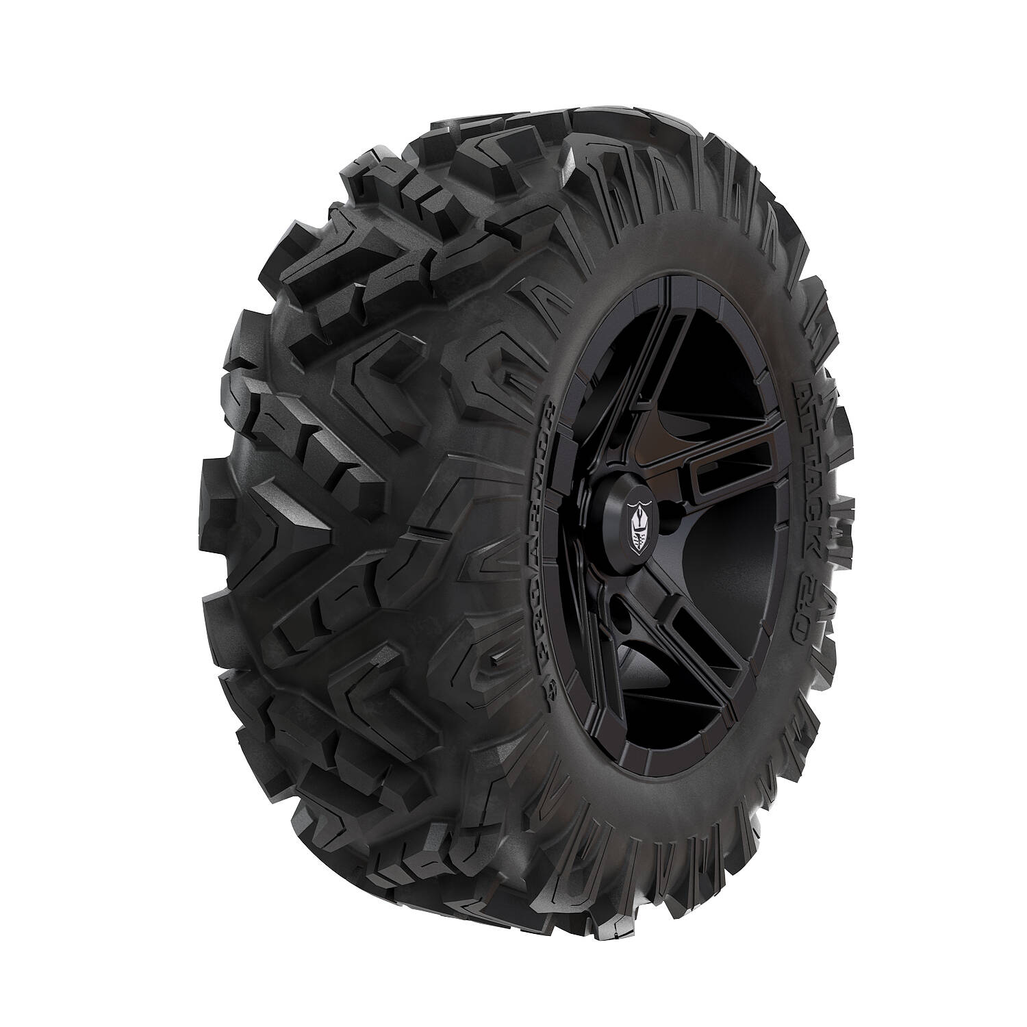 Pro Armor® Wheel & Tire Set: Flare - Matte Black & Attack 2.0 - 28""