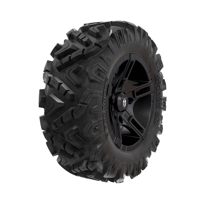 Pro Armor® Wheel & Tire Set: Flare & Attack 2.0, Matte Black, 28R15