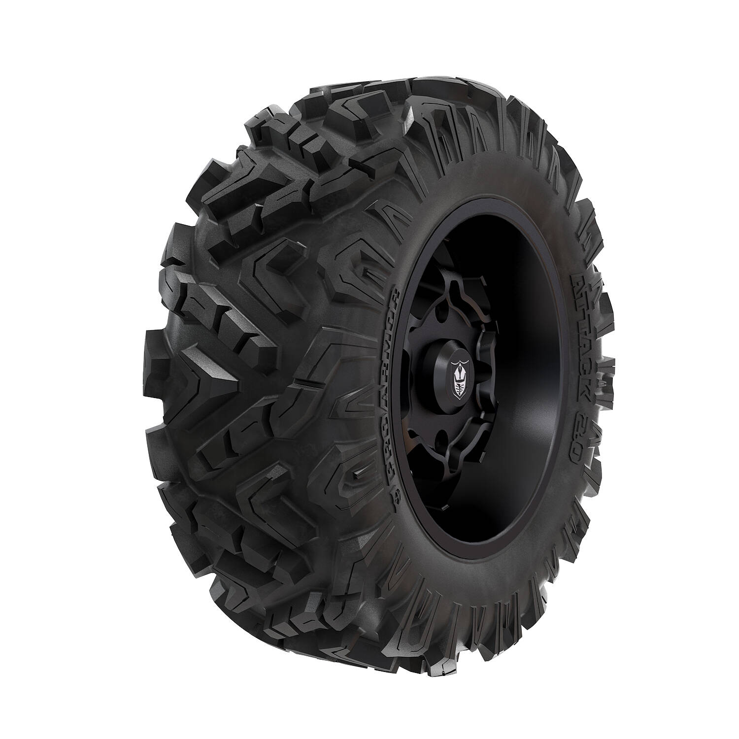 Pro Armor® Wheel & Tire Set: Cyclone - Matte Black & Attack 2.0 - 28""