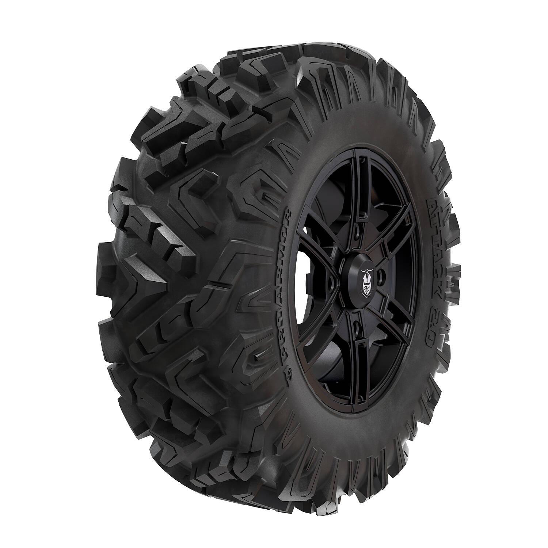 "Pro Armor® Wheel & Tire Set: Wyde - Matte Black & Attack 2.0 - 30"""