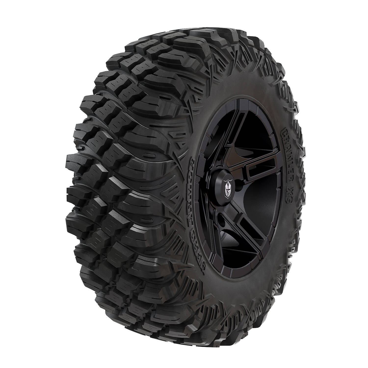 Pro Armor® Wheel & Tire Set: Flare - Matte Black & Crawler XG - 30""