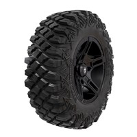 Pro Armor® Wheel & Tire Set: Flare & Crawler XG, Matte Black, 30R15