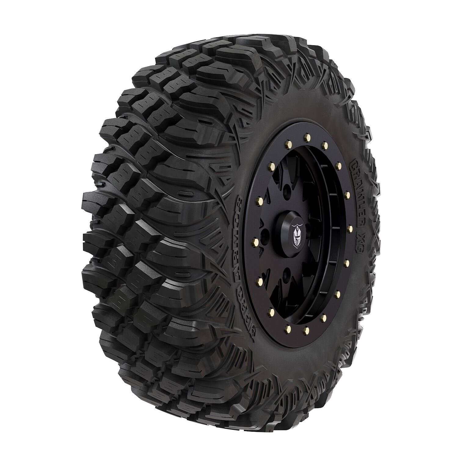 Pro Armor® Wheel & Tire Set: Halo - Matte Black & Crawler XG - 30""