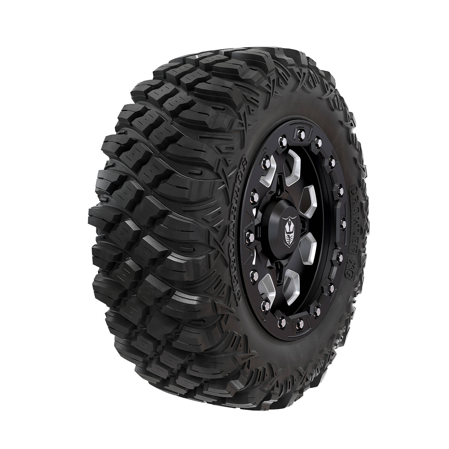 Pro Armor® Wheel & Tire Set: Hexlr- Matte Black & Crawler XG - 28""
