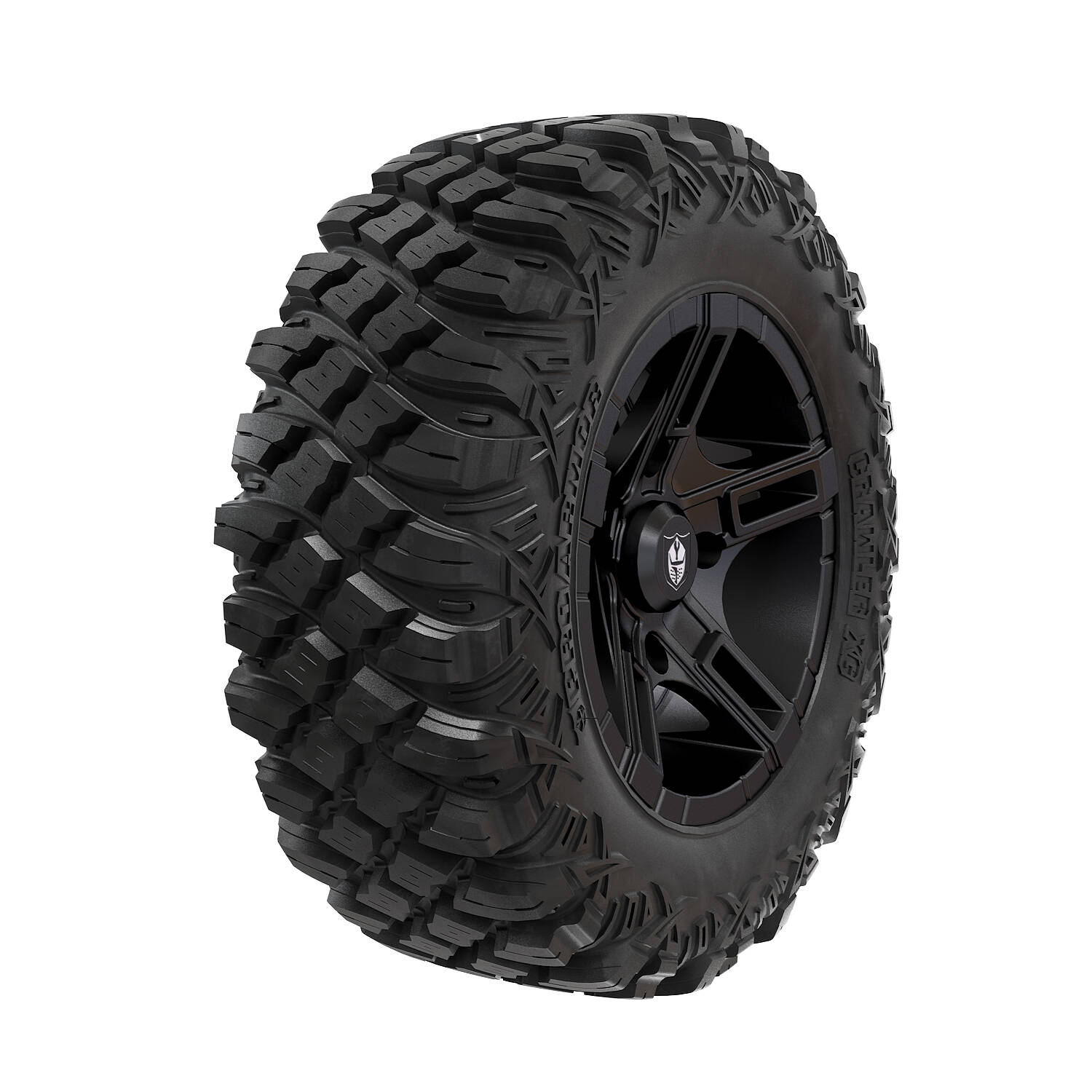 Pro Armor® Wheel & Tire Set: Flare - Matte Black & Crawler XG - 28""