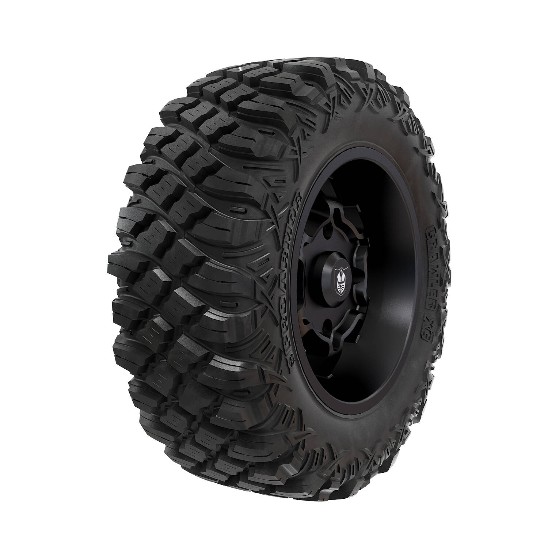 "Pro Armor® Wheel & Tire Set: Cyclone - Matte Black & Crawler XG - 28"""
