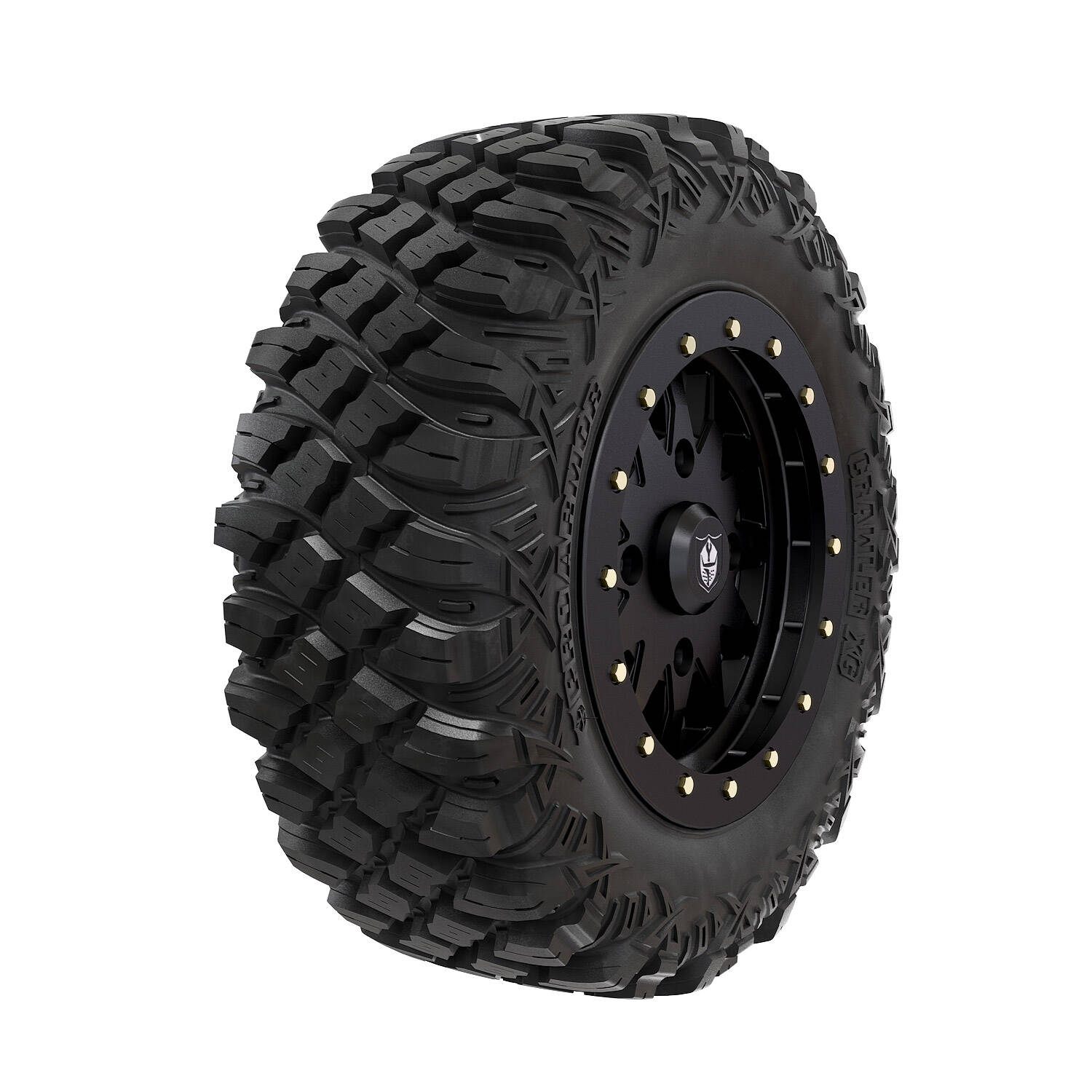 Pro Armor® Wheel & Tire Set: Halo - Matte Black & Crawler XG - 28""