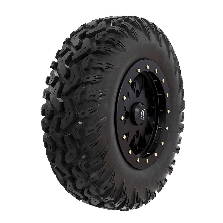 "Pro Armor® Wheel & Tire Set: Halo - Matte Black & Hammer - 30"""