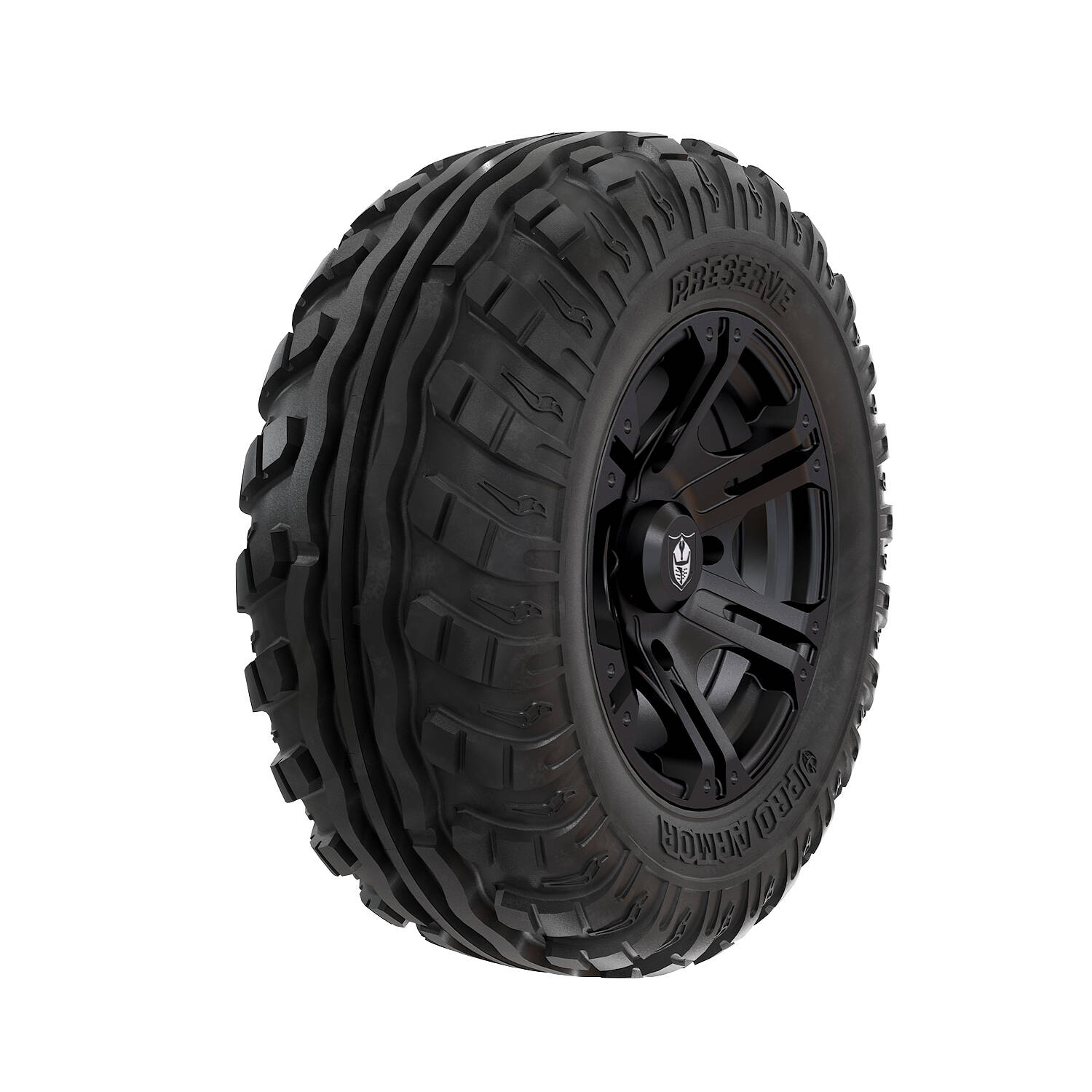 Pro Armor® Wheel & Tire Set: SIXR - Matte Black & Preserve™ - 27""