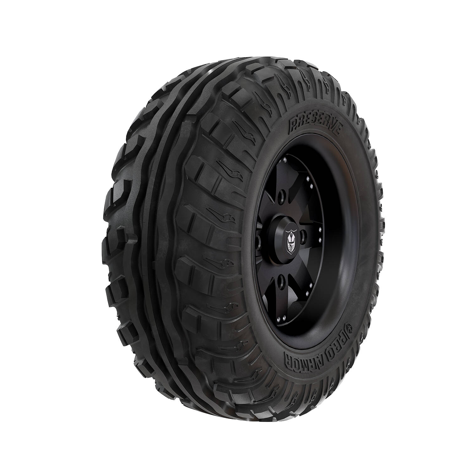 Pro Armor® Wheel & Tire Set: Amplify & Preserve™, Matte Black, 27R14